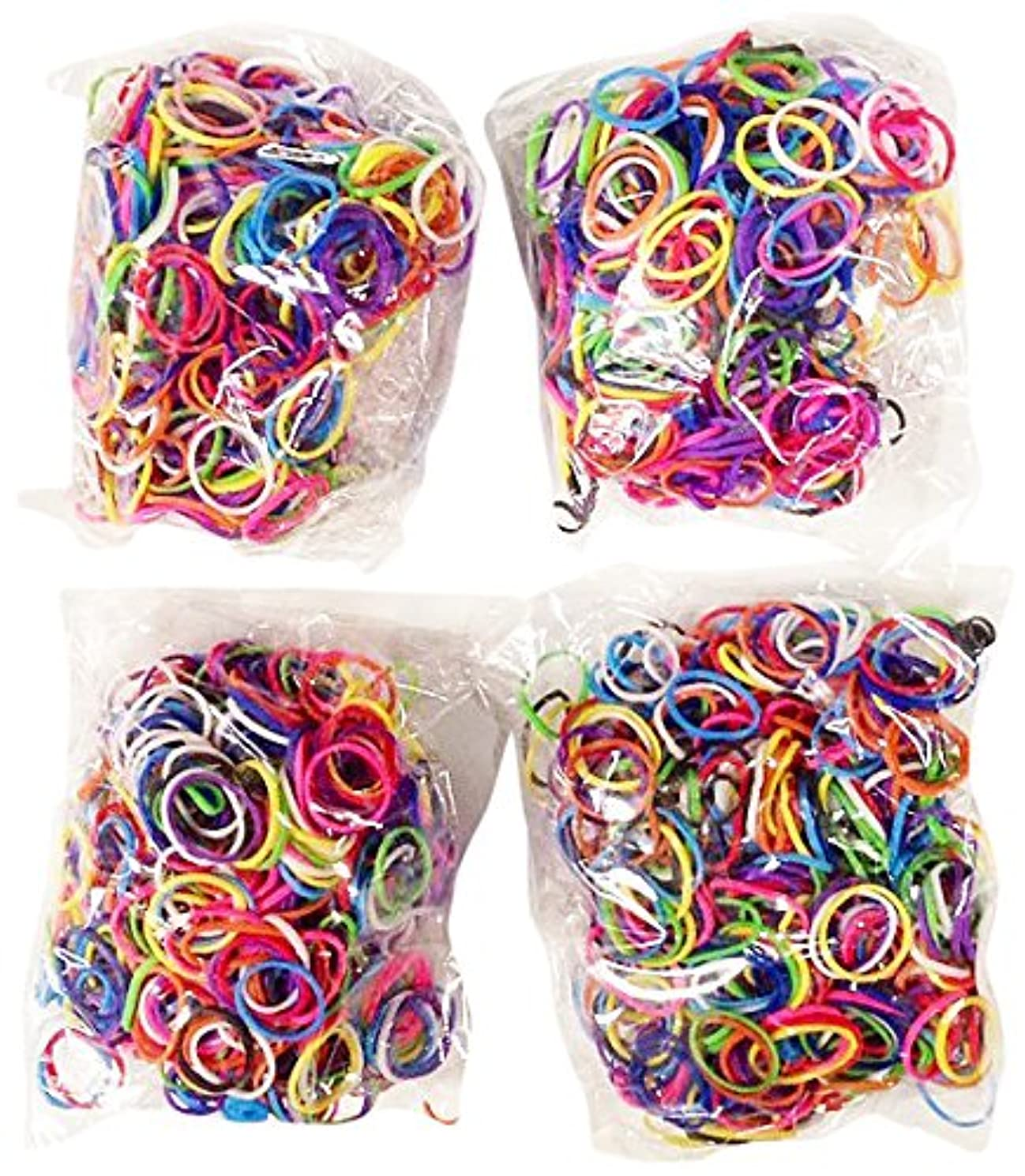 Bluedot Trading 2400-Piece Multicolor Rubber Band Kids Craft with Rainbow?Bracelet Kit Refill Pack