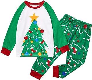 1-12 Años,SO-buts Navidad Niños Niño Niña Casual Chándal Dibujos Animados Árbol Imprimir Top + Pantalones Navidad Ropa Fam...