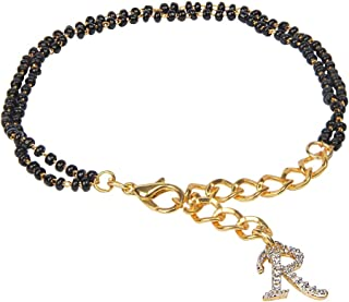 The Bling Stores Gold Non-Precious Metal Personalised Hand Mangalsutra Bracelet for Women