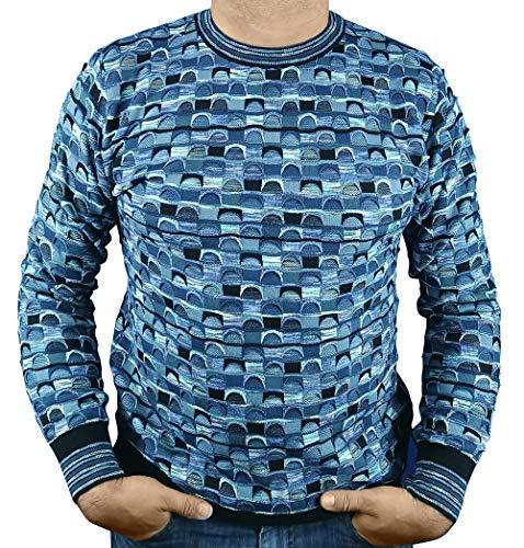 Carlo Colucci Pullover C8503 Kleur: 180 blauw