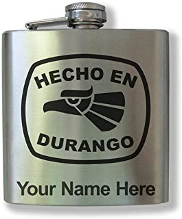 Frasco de acero inoxidable, Hecho en Durango, grabado personalizado incluido