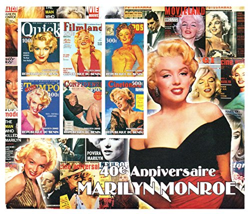 Marilyn Monroe Sammler - Große Sonderausgabe imperforate Briefmarkenbogen für Sammler - Der 40. Jahrestag der Marilyn Monroe - Beeindruckende Fotografie und Grafik - 9 Stempel / 2002 / Benin / 100 - 500F