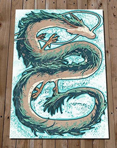 Haku Spirited Away Poster Print - Dragon Art Painting - Studio Ghibli Wall Art Home Decor - Anime
