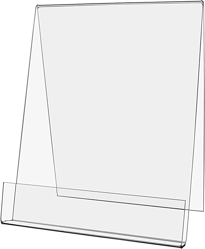 Marketing Holders Canvas Easel Booklet Holder J Stand Art Display Literary Frame Advertisement Literary Event Letter Pedestal Easel With 1 D Front Lip Pocket 8 5 W X 11 H Pack Of 2
