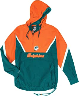 Mitchell & Ness Miami Dolphins NFL Men's Anorak 1/2 Zip Pullover Jacket