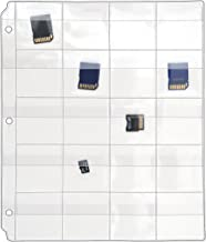 StoreSMART - 20 Pocket 3-Ring Binder Pages with Flaps - for Flash Drives/Memory Cards - 10-Pack - VH1173F-10