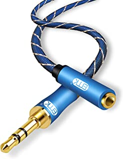 Headphone Extension Cable,EMK 3.5mm Audio Extension Cable Male to Female[24K Gold-Plated,Hi-Fi Sound] Nylon-Braided Stereo Audio Extension Cord for Smartphone,Tablets,MP3 Players (10ft/3m)