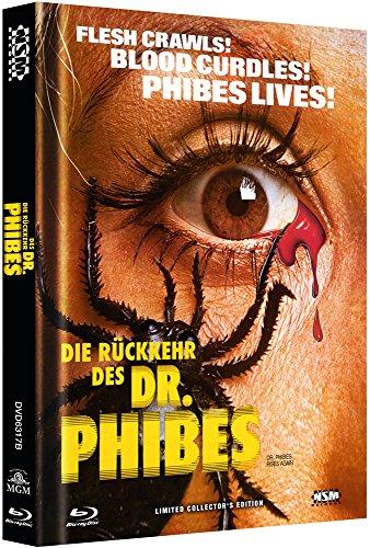 Die Rückkehr des Dr. Phibes - uncut (Blu-Ray+DVD) auf 333 limitiertes Mediabook Cover B [Limited Collector's Edition]