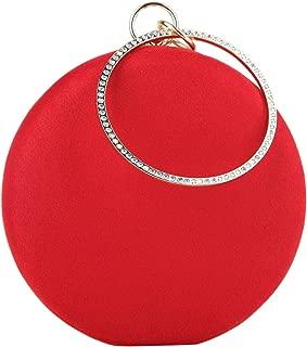 Fawziya Velvet Clutch Round Evening Bag For Womens Purses