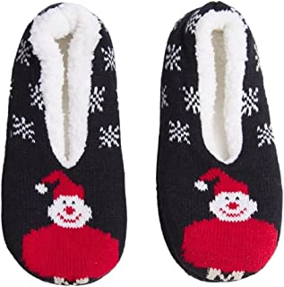Womens Winter Collection Home Cozy Lined Slippers Socks Slip-on Non Skid with Gripper