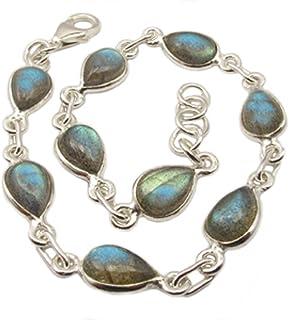 e8e3064d8 Labradorite sterling silver bracelet - Stone size 6x9mm