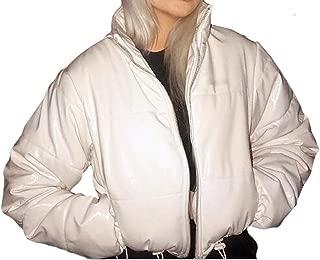 Women's Long Sleeve Zipper Casual Loose Outwear Down Short Outwear Overcoats Tops