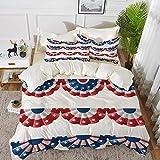 ropa de cama - Juego de funda nórdica, decoración de la bandera americana, adorno de la bandera del empavesado redondo de la bandera de la cinta Politic Union Event Pat, juego de funda nórdica de micr
