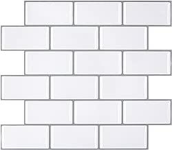 Self Adhesive Tiles Smart Sticker Tile for RV Kitchen, Peel and Stick Tile Backsplash for Kitchen Wall, Stick on Tiles Modern Style 11