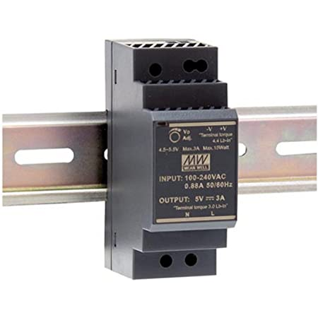Mean Well HDR-100-12N Fuente de alimentaci/ón para Uso Industrial Montaje en Carril DIN 12 V 7,5 A 1 Salida de 100 W