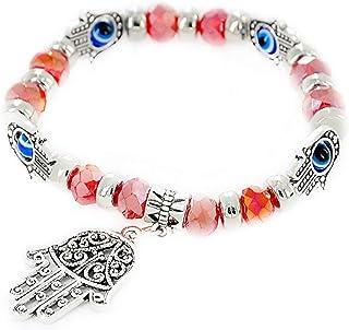 Evil Eye Fatima Hand Rhinestone Bracelet Protection