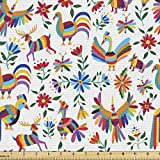 Ambesonne Mexican Fabric by The Yard,...