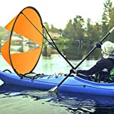 AZX Large 106,7cm Kayak Wind Sail Canoe Paddle Portable Popup Sottovento Kayak Sail Kit ...