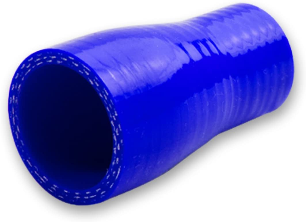 Blue 0.875 inches To 1.5 inches Straight Turbo//Intercooler//Intake Piping Coupler Reducer Silicone Hose