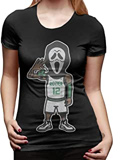 Women's Short-Sleeved T-Shirt Scary Terry Rozier Novel and Unique Design Black