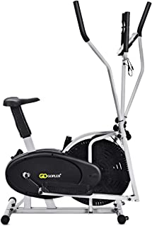 2 in 1 Elliptical Fan Bike Dual Cross Trainer Machine Exercise Workout Home Gym (with Central Handlebar)