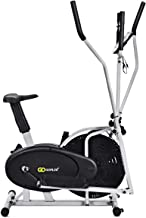 GOPLUS 2 in 1 Elliptical Fan Bike Dual Cross Trainer Machine Exercise Workout Home Gym (with Central Handlebar)