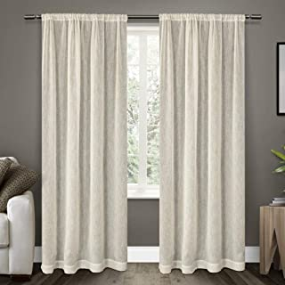 Exclusive Home Curtains Exclusive Home Belgian Sheer Window Curtain Panel Pair, Snowflake, 54x96, 96 Length, 2 Piece