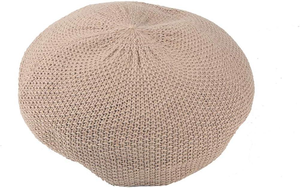 FENICAL Beret Hat Summer Woven Breathable Mesh Cap Traveling Camping Visor Cap for Women Ladies (Khaki)
