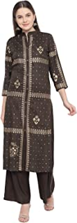 BNDYA Rayon Straight Festive Kurta with Printed Palazzo Set
