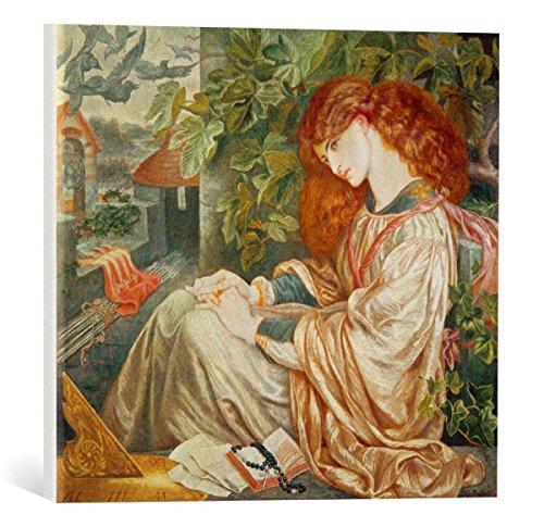 "kunst für alle Canvas Print: Dante Charles Gabriel Rossetti La Pia de Tolomei 1868-80"" Fine Art Print, Canvas on Stretcher, Ready to Hang Wall Picture, 17.7x15.7 inch / 45x40 cm"
