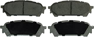 Wagner ThermoQuiet QC1004 Ceramic Disc Pad Set With Installation Hardware, Rear