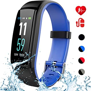 Mgaolo Fitness Tracker HR,Activity Tracker Waterproof Smart Watch Wristband with Heart Rate Blood Pressure Sleep Monitor Pedometer Calorie Step Counter for Android and iPhone (Blue)
