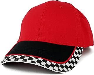 MC Racing Flag Low Profile Structured Cotton Twill Baseball Cap