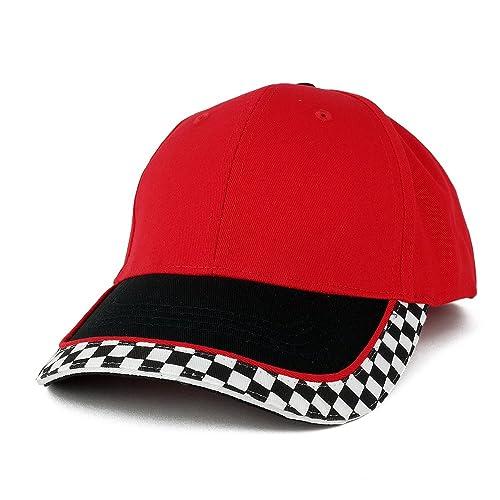 15d19fa7a33 MC Racing Flag Low Profile Structured Cotton Twill Baseball Cap