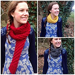7 Chunky Scarf Knitting Patterns (Easy Weekend Project): Easy-to-follow chunky scarf, infinity scarf and neck warmer patterns - knit a scarf in a weekend by [May Redwood]