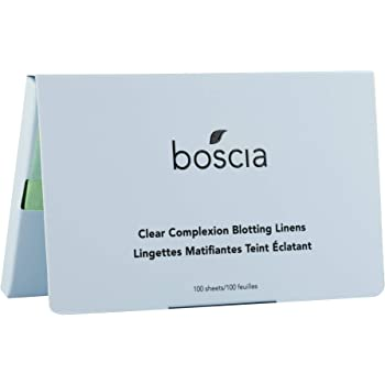 boscia Clear Complexion Blotting Linens, Vegan, Cruelty-Free, Natural and Clean Skincare , Natural Willow Bark Facial Blotting Sheets Formulated for Acne-Prone Skin, 100 Sheets