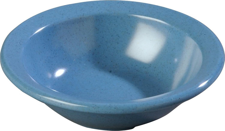 Carlisle KL92892 Kingline Melamine Rimmed Fruit Bowl, 4.40 fl. oz. Capacity, 4-19 32  Dia. x 1.29  H, Sandshade (Case of 48)