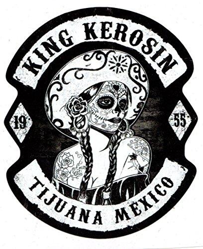 King Kerosin Tijuana Mexico Sugar Skull Retro Biker Vintage Oldschool