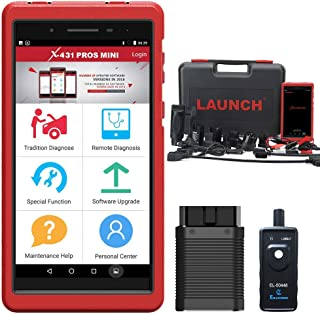 LAUNCH X431 PROS Mini Scanner Bi-Directional Full System Automotive Diagnostic Scan Tool with Active Test,ECU Coding,IMMO Injector,Key Coding,TPMS,ABS Bleeding with WiFi Bluetooth 2Years Free Update