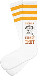 Time for a Turkey Trot: Unisex Striped Knee-High Socks
