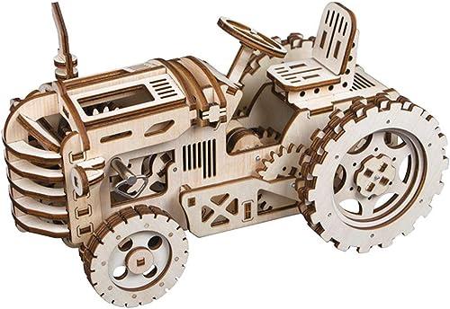 últimos estilos YWJ Modelo del Arte de la Locomotora del Rompecabezas Rompecabezas Rompecabezas de Madera del Corte 3D del Laser de con los Juguetes mecánicos del Engranaje,Juego de desafío para Adolescentes y Adultos  forma única