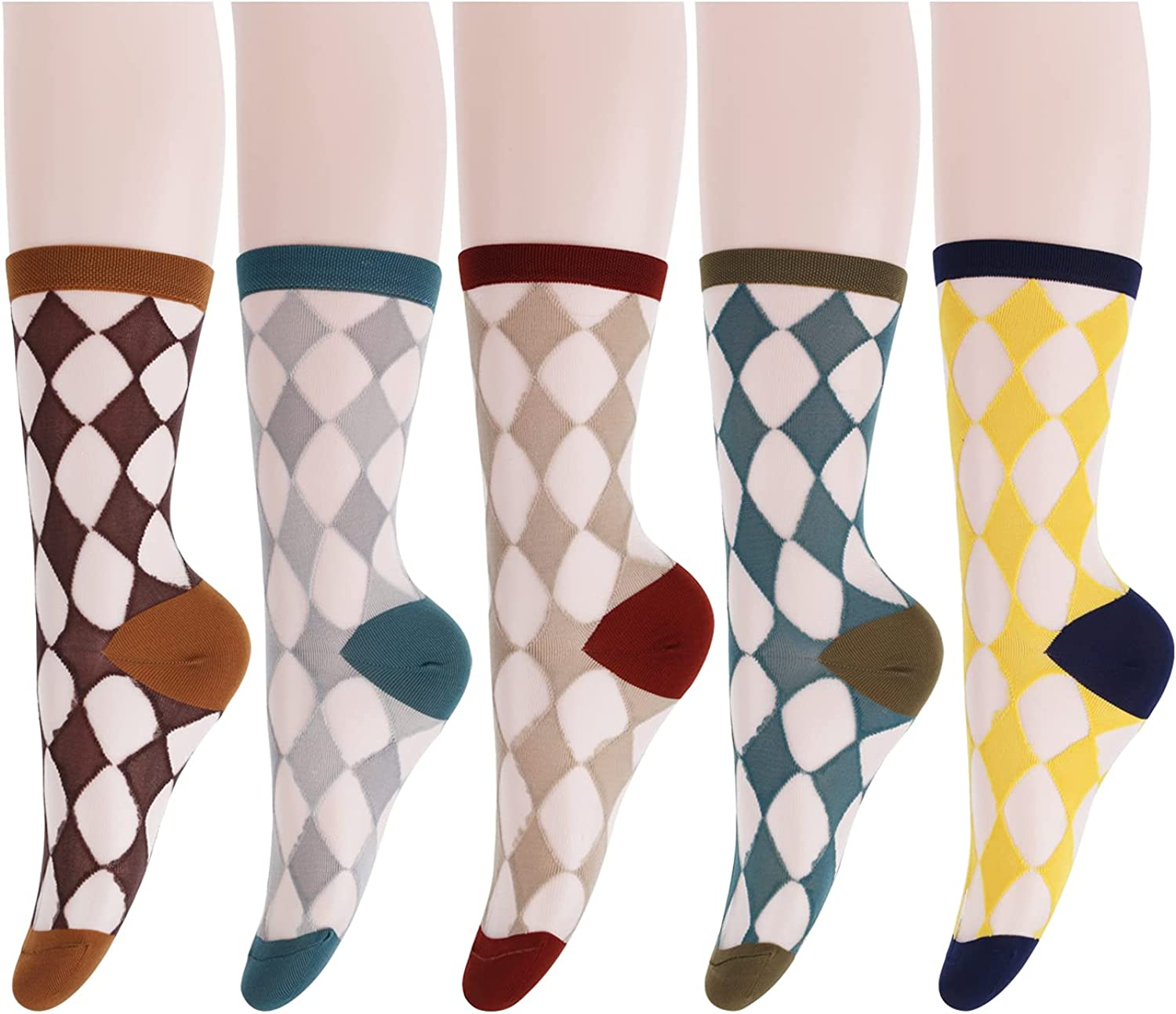 Womens Girls Sheer Socks Mesh Transpa Max 40% OFF Lace lowest price Ankle Crew High