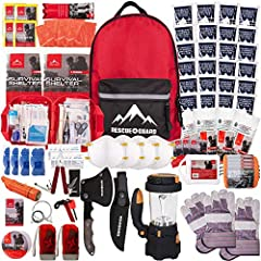ADVANCED Expert Emergency Survival Kit; LEVEL TWO; Emergency Kit or Basic Survival Kit Includes 12 Days of Emergency Supplies and Emergency Food for One Person, or 6 Days of Survival Gear for Two People or is a 72 Hour Emergency Kit for a Family of F...
