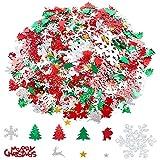 100g confeti de navidad Mesa de pastel Confeti Pentagrama Reno de Papá Noel Árbol de Navidad Feliz Navidad Copo de nieve Confeti Brillo navideño Craft Sprinkles Brillo brillante Decoración de fiesta