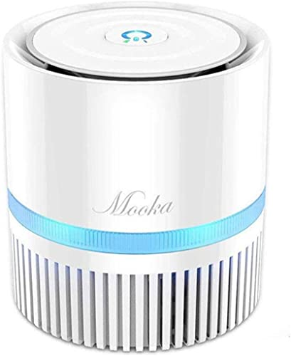 high quality MOOKA Air Purifier for Home, outlet sale 3-in-1 True HEPA Filter Air Cleaner discount for Bedroom and Office, Odor Eliminator for Allergies and Pets, Smoke, Dust, 3D Filtration, Night Light, Available for California outlet online sale