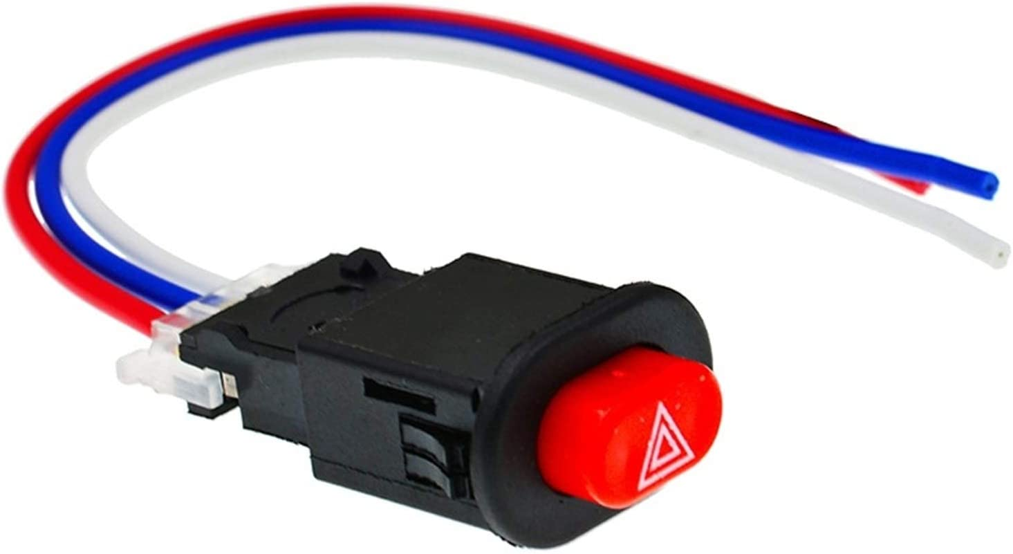 JIEIIFAFH 1pcs Motorcycle Hazard Light Switch Double Warning Fla