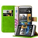 Cadorabo Funda Libro para HTC One M7 en Verde Hierba - Cubierta Proteccíon con Cierre Magnético, Tarjetero y Función de Suporte - Etui Case Cover Carcasa