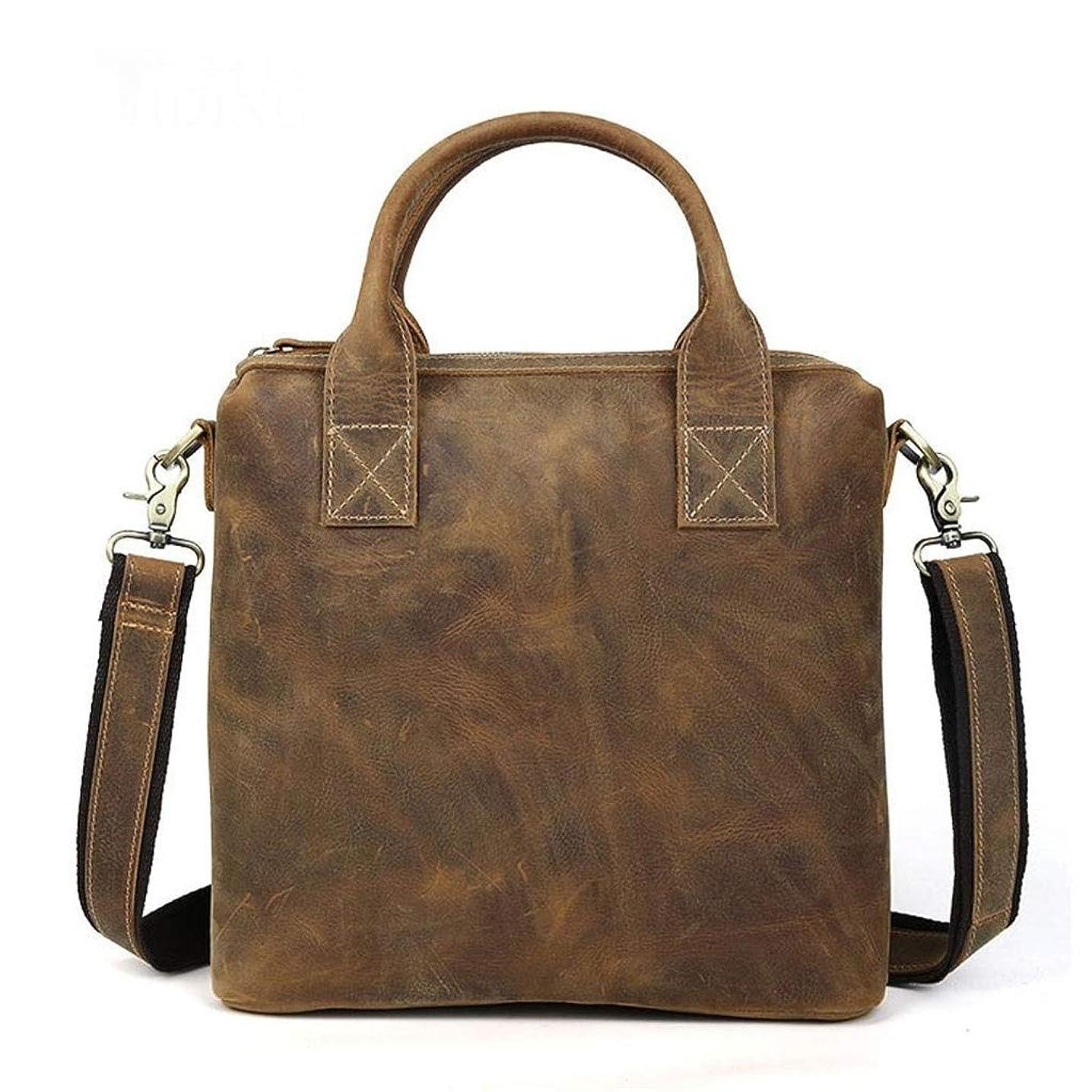 QASEW Bolso de oficina portátil Estilo Vintage de piel para negocios – Bolso bandolera. obohjyhzy