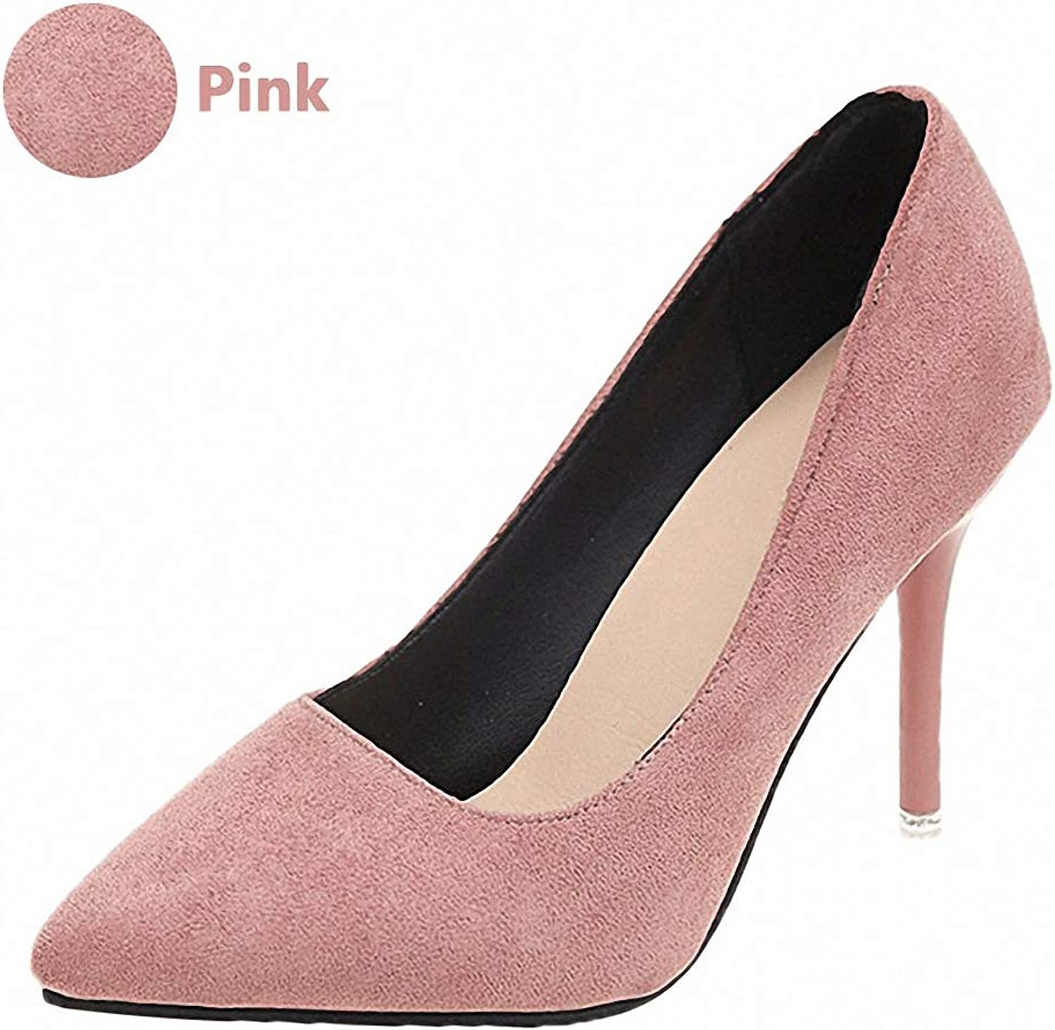 Tebapi Womens High-Heeled Pumps shoes Woman Super High Heels Pumps Nude 10cm Thin Heels Wedding shoes Party Ladies shoes Classic Pumps