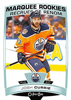 2019-20 O-Pee-Chee Hockey #536 Josh Currie RC Rookie Card Edmonton Oilers Official OPC NHL Trading Card From Upper Deck